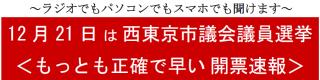 西東京市議会議員選挙開票速報